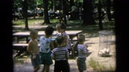 1964: drinking at the water fountain CAMDEN NEW JERSEY Stock Footage