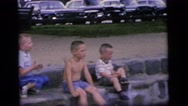 1964: people spending time on the beach CAMDEN NEW JERSEY Stock Footage