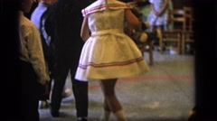 1964: kids playing game in a party CAMDEN NEW JERSEY Stock Footage