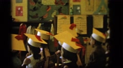 1964: little boys performing a skit in an elementary school classroom  Stock Footage