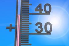 Heat concept, 3D rendering Stock Illustration