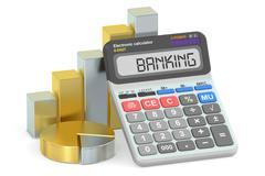 Banking concept, 3D rendering Stock Illustration