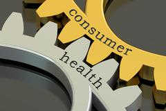Consumer health concept,  on the gearwheels, 3D rendering Stock Illustration