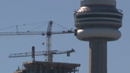 Downtown Toronto building construction Stock Footage