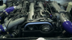Engine in the car, close up Stock Footage