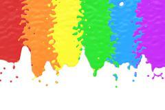 Spilled color paints concept, 3D rendering Stock Illustration