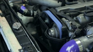 Car engine check of work, close up Stock Footage