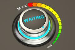 Min level of waiting concept, 3D rendering Stock Illustration