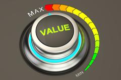 Value concept, max level of value. 3D rendering Stock Illustration