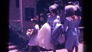 1966: women are seen in beautiful dresses DANVILLE, ILLINOIS Stock Footage