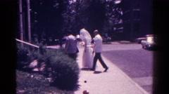 1966: a bride is seen walking DANVILLE, ILLINOIS Stock Footage