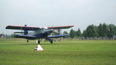Big plane takes off. Airshow Stock Footage
