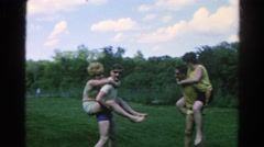 1966: a couple fight is seen DANVILLE, ILLINOIS Stock Footage