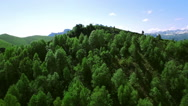Aerial View Mountain Big Thach Under Blue Sky With Clouds Stock Footage