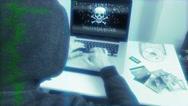 Hacker Programming Computer Virus Attack Stock Footage