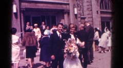1966: family celebrating daughter's first communion. DANVILLE, ILLINOIS Stock Footage