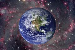 Solar System - Planet Earth. Elements of this image furnished by NASA. Kuvituskuvat