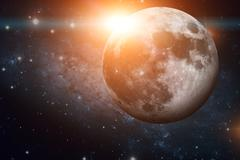 Solar System - Earths Moon. The Moon is Earth's only natural satellite. Stock Photos