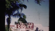 1955: hotel sign shows there are vacant rooms MIAMI, FLORIDA Stock Footage