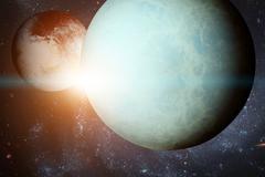 Solar System - Uranus. Elements of this image furnished by NASA. Kuvituskuvat