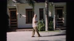 1955: man in suit is seen walking MIAMI, FLORIDA Stock Footage