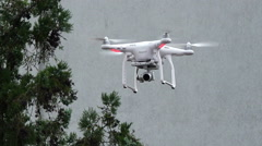 Drone flying and filming Stock Footage