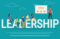 Project leadership concept illustration of business people working together as Stock Illustration