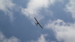 Light plane in air. Airshow Stock Footage