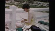 1955: woman is seen posing MIAMI, FLORIDA Stock Footage