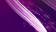 Stars, particles and lines in purple space - Motion Video Background Loop HD Stock Footage