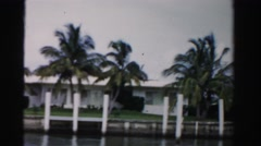 1955: beautiful scene MIAMI, FLORIDA Stock Footage