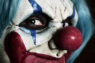 Scary evil clown Stock Photos
