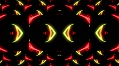 Fast moving yellow and red animated background Stock Footage