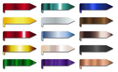 Metal Ribbon Banners Group Stock Illustration