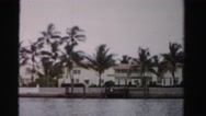 1955: coastal area is seen with tall trees MIAMI, FLORIDA Stock Footage