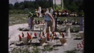 1955: market area beside road area is seen MIAMI, FLORIDA Stock Footage