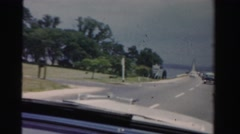 1955: road trip is seen MIAMI, FLORIDA Stock Footage