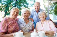 Aged friends Stock Photos