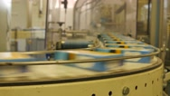Packed boxes of white rice travelling along the assembly line in a factory – 4K Stock Footage
