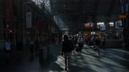 Frankfurt am main trainstation Stock Footage