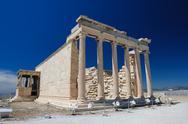 Porch of the Erechtheion wuth caryatids, Acropolis Stock Photos