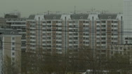 View of apartment building  on overcast day Stock Footage