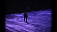 1961: ice skating children in winter snow setting HAGERSTOWN, MARYLAND Stock Footage
