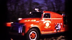 1961: fire brigade is seen passing in parade HAGERSTOWN, MARYLAND Stock Footage