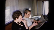 1961: couple is seen sitting HAGERSTOWN, MARYLAND Stock Footage