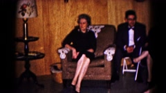1961: people at gathering HAGERSTOWN, MARYLAND Stock Footage