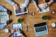 Analyzing sales Stock Photos