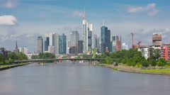 Timelapse of Frankfurt in a cloudy day Stock Footage