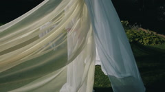 The wedding decoration curtain Stock Footage