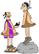 Caveman's last rites Stock Illustration